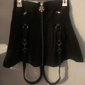 Killstar Blaire Pleated Mini Skirt